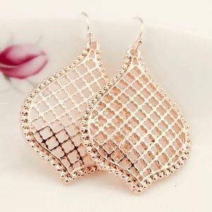 🎁 Rose Gold Filigree Earrings 🎁 NEW